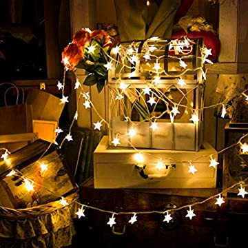 Star-String-Lights-100-LED-34FT-Remote-Control,-LED-Twinkle-Lights-Indoor-Fairy-Lights-8-Modes-Warm-White,-USB-Powered,-Decoration-for-Home-Wedding-Birthday-Christmas-Patio-Bedroom