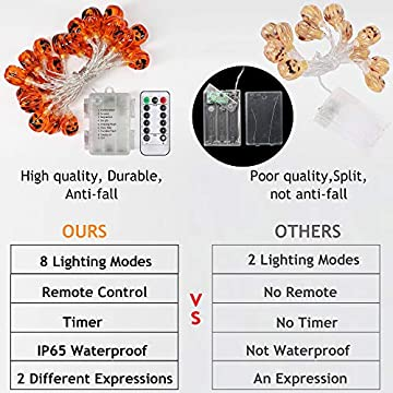 Halloween-Decorations-Lights-with-Remote,8-Modes-IP65-Waterproof-Battery-Operated-Fairy-String-Lights-for-Christmas-Bar-Outdoor-Indoor-Halloween-Decor-(Pumpkin-Warm-White)