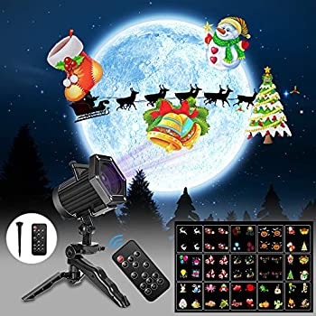 Christmas-Lights,15-Patterns-Projector-Lights-Waterproof-Dynamic-Lands