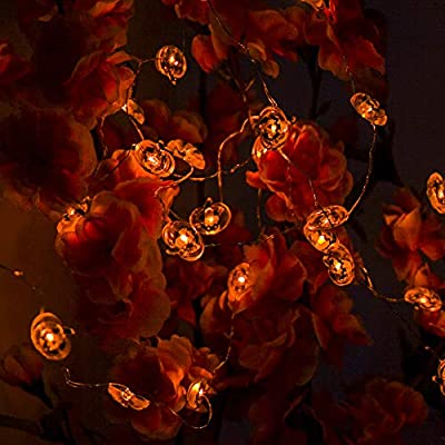String-Lights,9.85ft-with-40pcs-Pumpkin-Light-for-Indoor/Outdoor-Halloween,-Christmas,-Holiday-Party-Decoration
