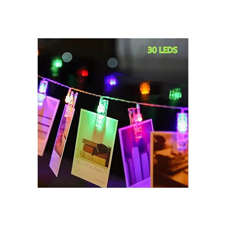 30-LED-Photo-Clips-String-Lights-Indoor/Outdoor,-Christmas-Lights,-USB-Powered,-12-Ft,-30-LED-Clips-Lights??ulticolor---for-Hanging-Photos-Paintings-Pictures-Card-and-Memos