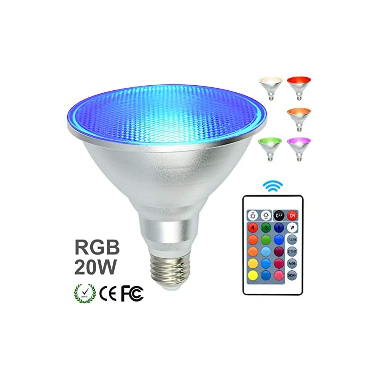 PAR38-Led-Floodlight-Bulb-RGB-Color-Changing-Light-Bulb-with-Remote-Control,-Spotlight-E26-20W-Dimmable-Light-Bulb,-IP65-Waterproof-Light-Screw