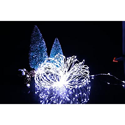 33Ft-100-LED-Fairy-Lights-Waterproof-Starry-Firefly-String-Lights-Plug-in-on-Silver-Wire-Perfect-for-Christmas-Party-DIY-Wedding-Bedroom-Indoor-Party-Decorations,-Pure-White