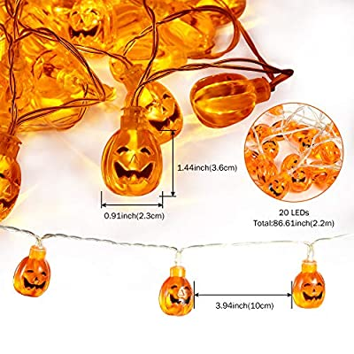 Halloween-Pumpkin-String-Lights-with-Remote,Waterproof-3D-Jack-O-Lantern-Halloween-Decoration-Lights-Outdoor-Indoor,Battery-Operated-8-Modes-20LED-for-Halloween-Home-Party-Yard-Mantel-Decor