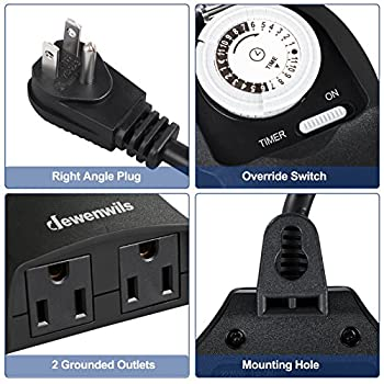 Outdoor-Timer-Waterproof,-24-Hour-Heavy-Duty-Plug-in-Mechanical-Progra
