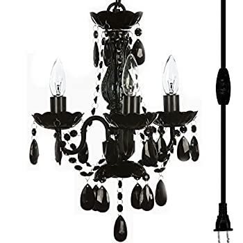 The-Original-3-Light-Black-Plug-in-Chandelier-for-H17'-W12',-Black-Met