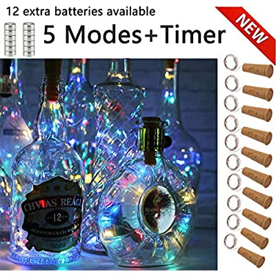 Wine-Bottle-Lights-with-Cork--5-Dimmable-Modes-with-Timer-10-Pack-12-Replacement-Battery-Operated-LED-Silver-Copper-Wire-Fairy-String-Lights-for-DIY,-Party,-Decor,-Christmas,-Halloween,Wedding