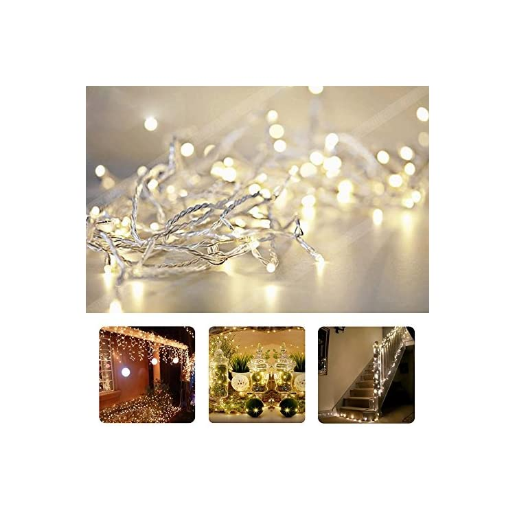 10M/33ft-Warm-White-LED-String-Lights-100-LEDs-Indoor-Decorative-Lights-for-Wedding-Xmas-Party---Control-up-to-8-Sparking-Modes-(Warm-White)