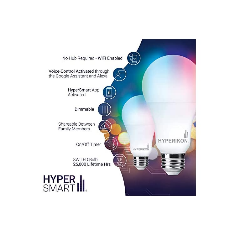 Smart-Light-Bulbs,-8W=60W-Work-with-Alexa-RGB,-No-Hub,-WiFi-2.4GHz,-Di