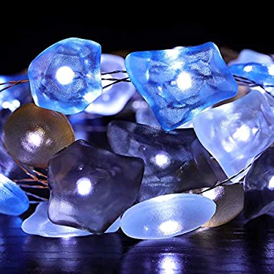 Sea-Glass-String-Lights,-Ocean-Sea-Glass-String-Light-Beach-Themed-Waterproof-Flexible-Battery-powered-13.5-ft-40-LEDs-for-Indoor,-Outdoor,-Birthday,-Wedding,-Summer-Holiday,-Parties,Home-Decos