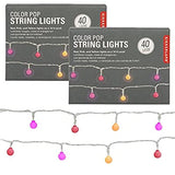(2-Pack-14ft-Multicolor-Pastel-LED-Indoor-String-Lights-with-40-LED-Light-Bulbs-Each,-80-Total,-Battery-Operated-String-Lights-for-Wedding-Decorations,-Easter-Decorations,-Party-Supplies