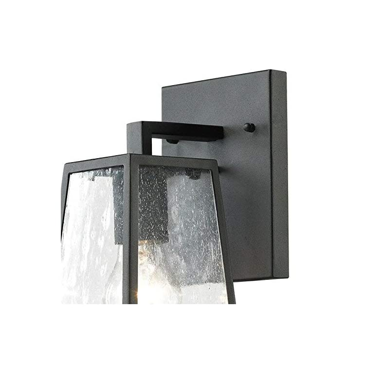 Elk-Lighting-45090/1-Meditterano-Collection-1-Light-Outdoor-Sconce,-Textured-Matte-Black