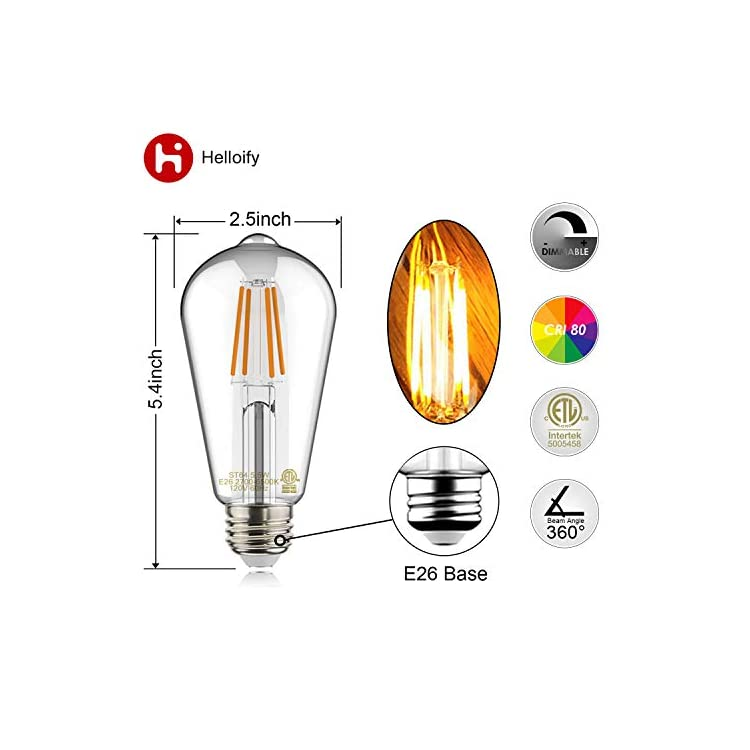 Helloify-Light-Vintage-Edison,-Equivalent-60W,-Dimmable,-High-Brightness-Warm-White-2700K,-ST64-/-ST21-Antique-LED-Filament-Bulbs,-E26-Medium-Base,-Clear-Glass,-Pack-of-6