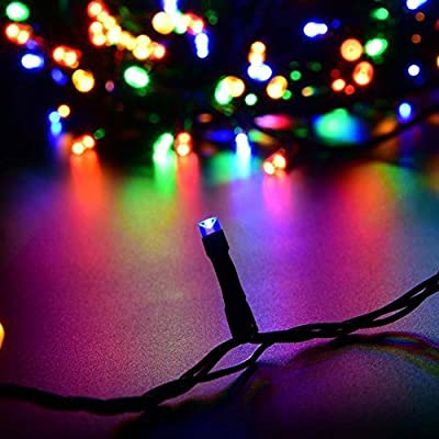 Indoor/Outdoor-LED-String-Light-with-8-Flash-Changing-Modes,-Fairy-Wire-Lights-for-Party/Wedding/Christmas/Patio/Garden,-Decorative-Rope-Lights-for-Decoration-33ft-100LED-Multi-Color