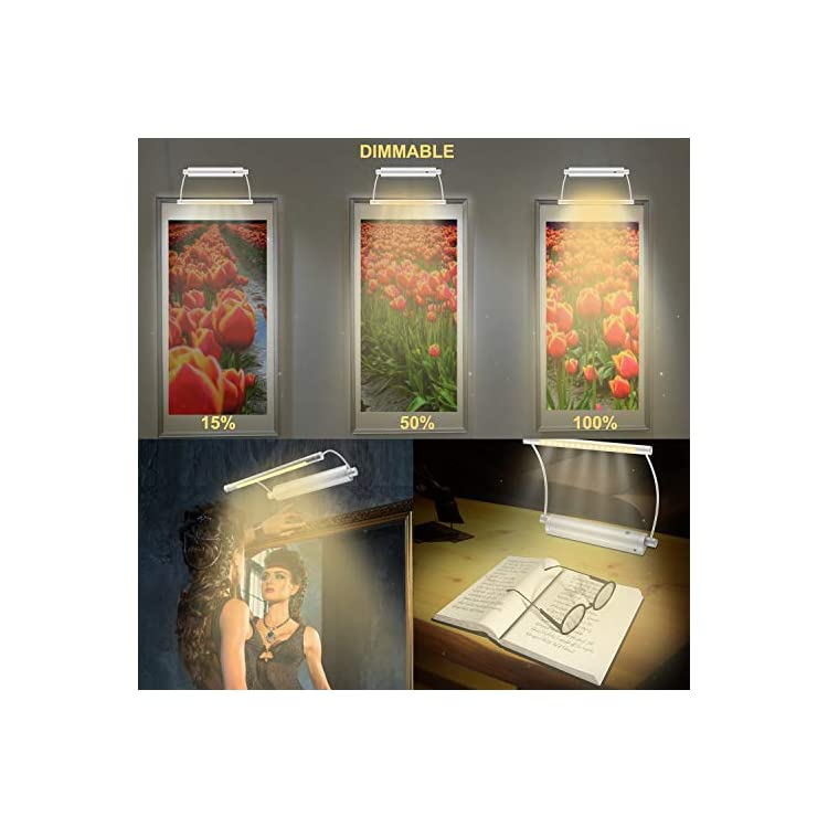 Picture-Light-Wireless-Display-Lights-Battery-Powered-LED-Accent-Light-Remote-Control-Uplight-Artwork-Lighting-Rotatable-Light-Heads-with-Timer-Dimmer,-Stick-Art-Lights-for-Painting-Mirror