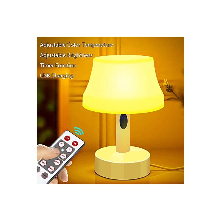 LED-Night-Light,-Portable-Simple-Design-Nursery-Lamps,-Remote-Control-Battery-Powered-Dimmable-Table-Lamp-with-Timer-Function-For-Bedroom,-Living-Room,-Kids-Room-(Remote-Control-LED-Night-Light)