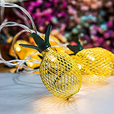 Pineapple-String-Lights,-10ft-10-LED-Fairy-String-Lights-Battery-Operated-for-Christmas-Home-Wedding-Party-Bedroom-Birthday-Decoration-(Warm-White)-…