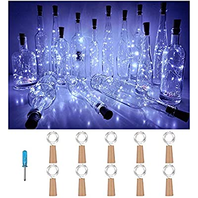 Wine-Bottle-Cork-Lights,White-10-Pack-20-LED/6.56ft-Battery-Operated-LED-Cork-Shape-Silver-Copper-Wire-Fairy-Mini-String-Lights-for-DIY-Party-Christmas-Halloween-Wedding,Outdoor-Indoor-Decor