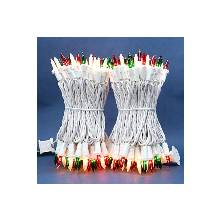 Red-Green-&-Frosted-White-Incandescent-Christmas-Lights,-66-Ft-White-Wire-200-Mini-Lights,-UL-Certified-Holiday-String-Light,-End-to-End-Connectable-Commercial-Grade-Lights-Set-(Red-Green-&-Frosted)