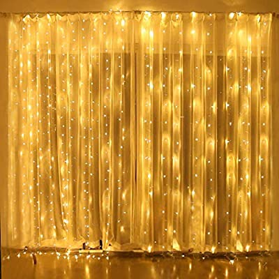 LED-Curtain-Lights,-9.84ft-x-9.84ft-Twinkle-Star-String-Lights-with-8-Modes-Indoor-Outdoor-Bedroom-Gazebo-Party-Garden-Wedding,-Warm-White