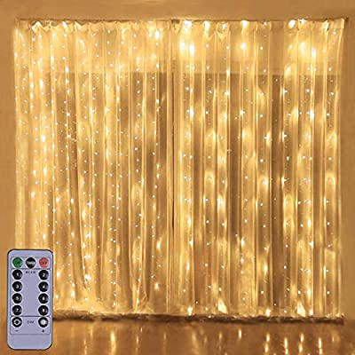 300LED-Copper-Wire-Curtain-Lights-with-Remote,-8-Modes-DIY-Pattern-Flexible-String-Lights,-Window-and-Wall-Decorations-for-Garden,-Room,-Party-(Warm-White)
