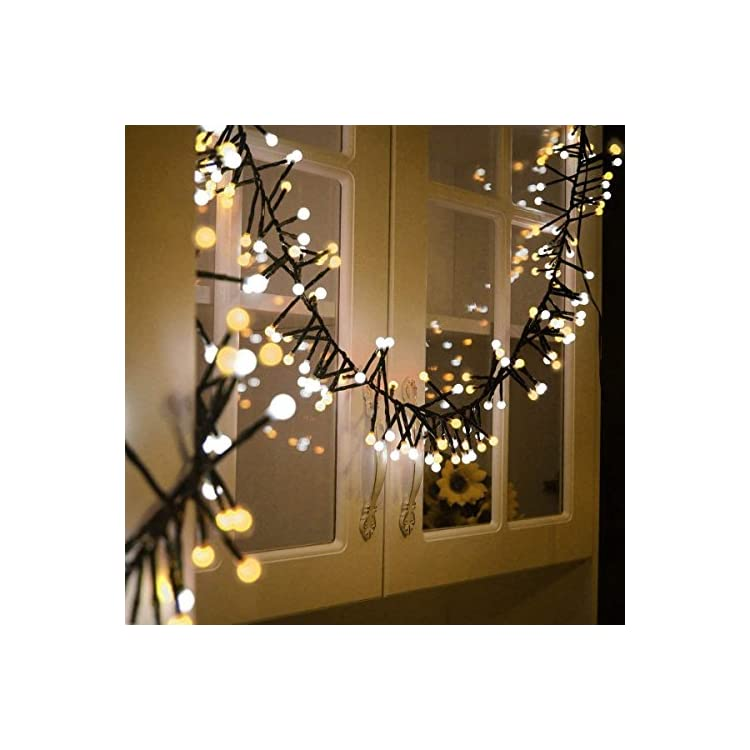 Christmas-String-Lights-400-LEDs---13FT-Waterproof-Outdoor-Indoor-Valentines-Day-Globe-Fairy-Lights---Linkable-and-8-Flash-Modes-for-Wedding-Party-Backyard-Bedroom-Home-Decoration,-Yellow&White
