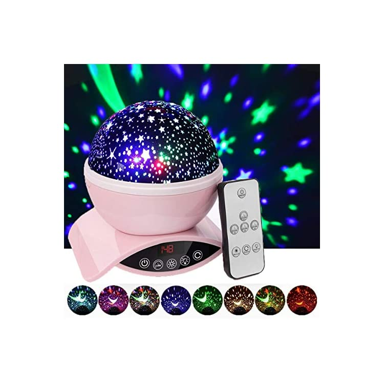 Night-Lights-for-Kids,-Star-Projector-for-Baby,-Remote-Control-and-Timer-Design-Projection-Lamp-for-Bedroom,-Star-Sky-Color-Lamp-for-Children-Kids-Teens-Birthday-Gifts