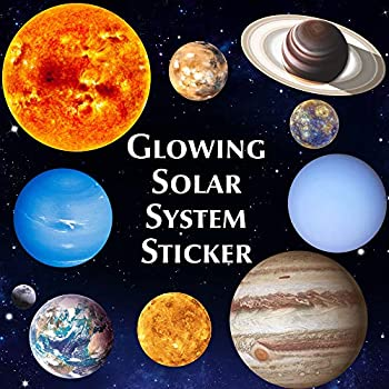 Bright-Solar-System-Wall-Stickers-Glow-in-The-Dark-Sun-with-9-Planets-