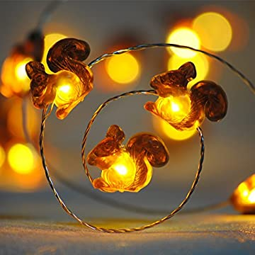 Squirrel-Decoration-String-Lights,-Christmas-Festive-Chipmunk-Novelty-Lights-Battery-Powered-10-ft-40-LEDs-with-Remote-for-Winter-Christmas-Home-Party,-Fall,-Forest-Wedding,-Thanksgiving