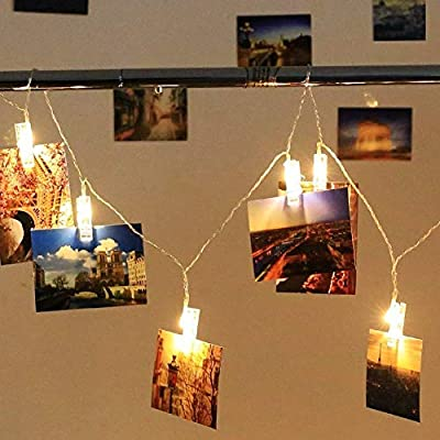 50-LED-Photo-Clip-Lights---Photo-Clips-String-Lights-USB-Powered-Fairy-Lights,-Hanging-Lights-for-Christmas-Cards-Pictures-Holder,-Teen-Girl-Gifts-for-Bedroom-Decor
