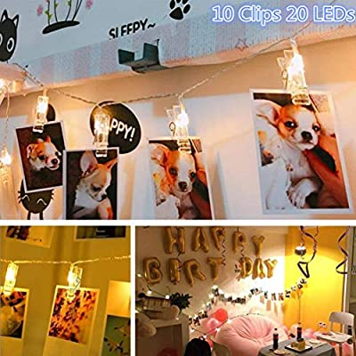Photo-Clip-String-Lights,-Battery-Powered-20-LEDs-Fairy-String-Lights-with-10-Clear-Clips-for-Christmas/Hanging-Pictures/Party/Halloween-Decor-(Warm-White)