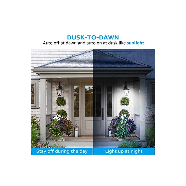 LED-Dusk-to-Dawn-A19-Light-Bulb,-Photo-Sensor-Outdoor-Bulb,-9W-(60W-Eqv.),-800lm,-5000K-Daylight,-CRI-80+,-UL-&-Energy-Star-Certified,-for-Porch,-Front-Door,-3-Years-Warranty,-Pack-of-4
