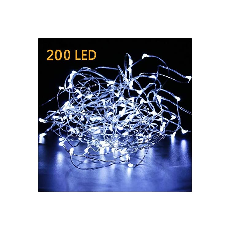Fairy-Lights-Plug-in,-66Ft-200LED-Waterproof-Firefly-Lights-on-Silver-Wire---UL-Adaptor-Included,-Starry-String-Lights-for-Wedding-Indoor-Outdoor-Christmas-Patio-Garden-Decoration,-White