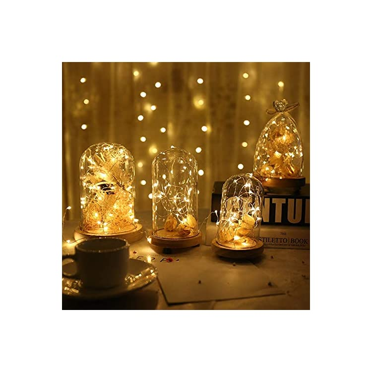 Fairy-Lights-with-Remote-33-Feet-100-LED-Battery-Operated-String-Lights,-Silver-Wire-Led-String-Lights-for-Bedroom-Indoor-Outdoor-Warm-White-(4-Pack)