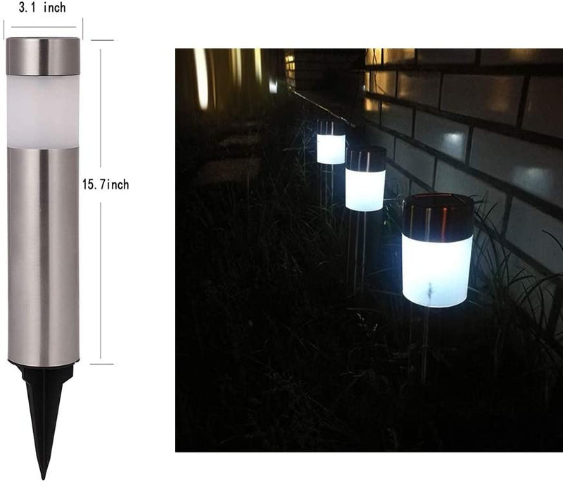 Solar-Bollard-Lights-Outdoor---6-Pack-Stainless-Steel-Warm-White-LED-L