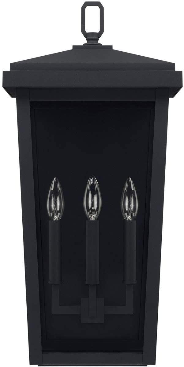 926232BK-Donnelly---11.5'-Three-Light-Outdoor-Wall-Lantern,-Black-Fini