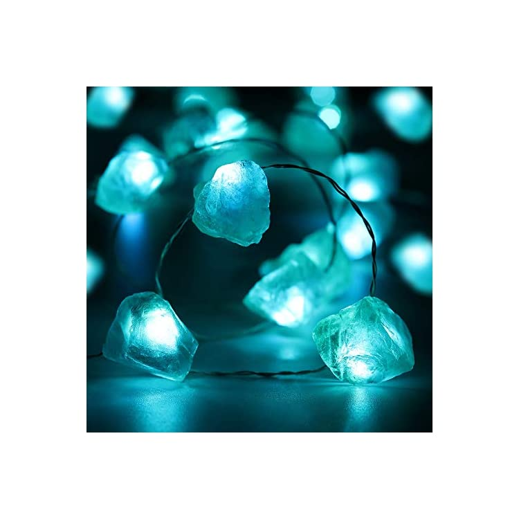 Blue-Fluorite-Fairy-String-Light,-10ft-30-LEDs-Dreamy-Crystal-Decoration-Battery-Powered-with-12-Modes,-Remote-and-Timer-Decor-for-Girls-Bedroom-Festive-Birthday