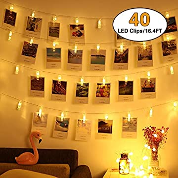 40-LED-Photo-Clips-String-Lights,-Christmas-Indoor-Fairy-String-Lights-for-Hanging-Photos-Pictures-Cards-and-Memos,Battery-Powered,-Ideal-Gift-for-Dorms-Bedroom-Decoration(16.4-Ft,-Warm-White)
