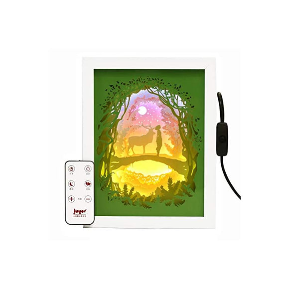 3D-Deer-Papercut-Light,-Remote-Control-Paper-Lantern-Lamp,-Paper-Spring-Decoration,-USB-LED-Night-Light,-Decor-Atmosphere-Mood-Light,-Creative-Gift-for-Easter