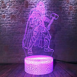 Marvel-Action-Figures-Thor-Cool-Super-Hero-Avengers-Marvel-Legends-3D-LED-Multicolor-RGB-Bulb-Smart-Night-Light-Table-Home-Bedroom-Decor-Nursery-Lamp-Toy-Child-Kids-Teens-Birthday-Xmas-Creative-Gifts