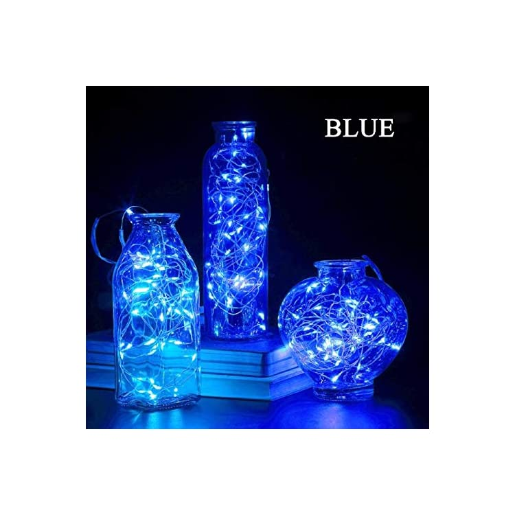 8-Pack-9.8'-30-LED-Battery-Operated-Fairy-Lights-Mini-Copper-Wire-Firefly-String-Lights-for-Bedroom-Indoor-Outdoor-Wedding-Mason-Jar-Dorm-Decor-DIY-Costume-(Blue)