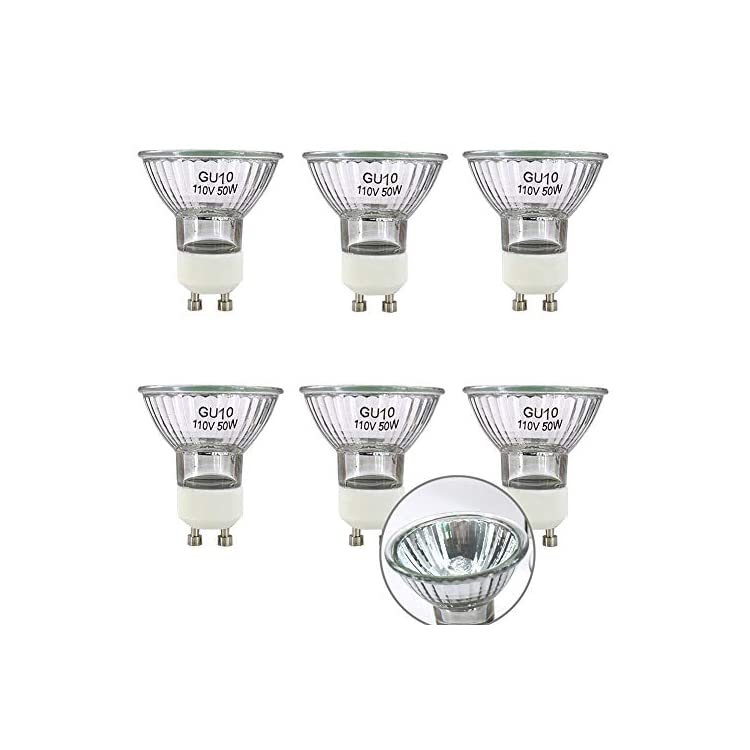 GU10-Base-110V/120V-50-Watt-Halogen-Bulbs,-MR16-Reflector-Flood-Replac