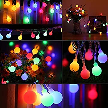 Easter-String-Lights,36ft-80-LED-Fairy-Lights-with-8-Modes,-Timer,-Globe-Ball-led-String-Lights-for-Party,-Home,-Wedding,-Room,-Holiday,-Easter-Day-Decorations-(Multicolor)