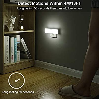Plug-in-LED-Night-Light-with-Light-Sensor,-70-Lumens,-Daylight-Ultra-Bright-Motion-Activated-Night-Light,-Automatic-On-Off-for-Hallway,-Bathroom,-Garage,-UL-Listed