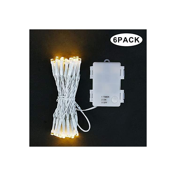 6-Pack-50LED-String-Lights,-Battery-Operated-Christmas-Lights-with-Timer-for-Christmas-Bedroom-Wedding-Party-(Warm-White)