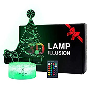 Desk-Christmas-LED-Night-Light-with-3D-Illusion-and-Remote-Control,-Christmas-LED-Desk-Table-Lamp,-16-Colors-Changing,-LED-Night-Lamps-for-Home-Room-Decoration-Birthday-Toy-Kids(Christmas-Tree)
