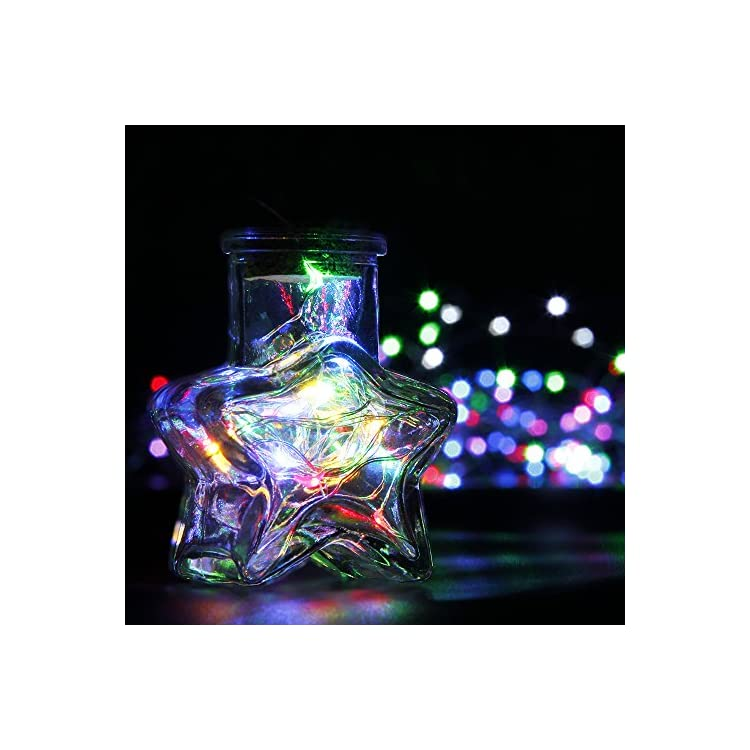 6-Pack-Multicolor-Fairy-String-Lights-Battery-Operated-Fairy-Lights-Firefly-Lights-Micro-LED-Starry-String-Lights-on-3.3ft/1m-Silvery-Copper-Wire-for-DIY-Christmas-Decoration-Costume-Wedding