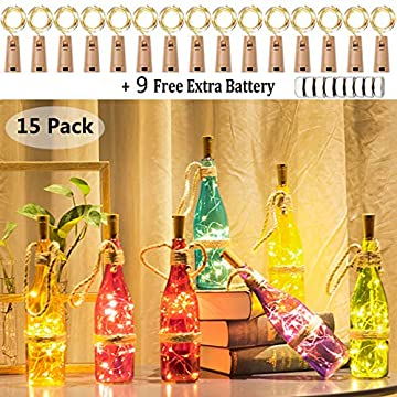 Wine-Bottle-Lights-with-Cork,-15-Pack-Battery-Operated-Copper-Wire-Cork-Lights-+-9-PCS-Extra-Replacement-Batteries-with-Fairy-Mini-String-Lights-for-Party-Wedding-Decor-Warm-White(Bottle-not-Included)