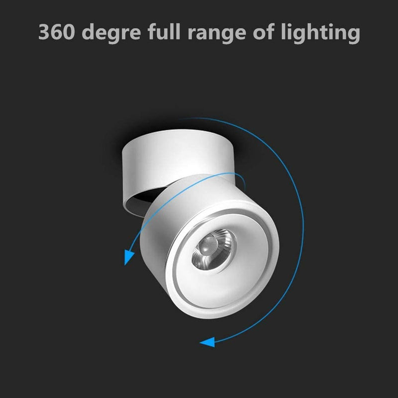 LED-Indoor-Ceiling-Spotlight-360°Adjustable--Surface-Mounted-COB-Light