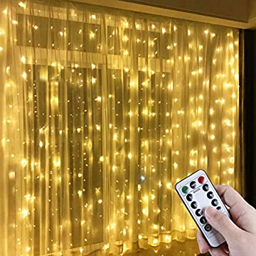 Window-Curtain-String-Light,-300-LED-Warm-White-Window-Fairy-String-Lights-with-8-Modes,-3m-x-3m-8-Modes-USB-Powered-LED-Curtain-Lights-for-Christmas,-Party,-Wedding,-Bedroom-Decoration